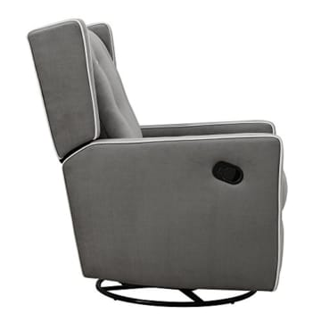 Baby Relax Mikayla Swivel Gliding Recliner, Gray Microfiber - 4