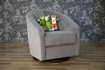 Babyletto Madison Swivel Glider, Slate Microsuede - 6
