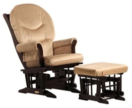 Dutailier Sleigh Glider and Ottoman Combo, Espresso/Light Brown - 1