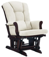 Angel Line Sleigh Reclining Glider, Multi-Position, Espresso with Beige Cushion - 1
