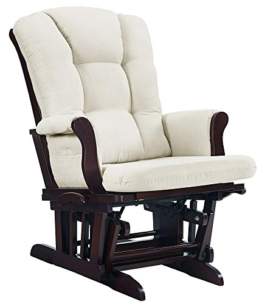 Angel Line Sleigh Reclining Glider, Multi-Position, Espresso with Beige Cushion - 1