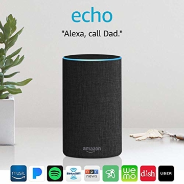 Echo (2nd Generation) - Smart speaker with Alexa - Charcoal Fabric - 12