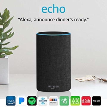 Echo (2nd Generation) - Smart speaker with Alexa - Charcoal Fabric - 15