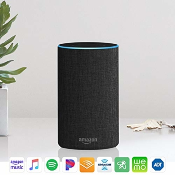 Echo (2nd Generation) - Smart speaker with Alexa - Charcoal Fabric - 18