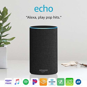 Echo (2nd Generation) - Smart speaker with Alexa - Charcoal Fabric - 2