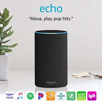 Echo (2nd Generation) - Smart speaker with Alexa - Charcoal Fabric - 5