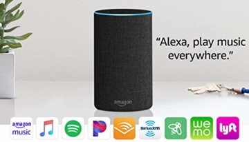 Echo (2nd Generation) - Smart speaker with Alexa - Charcoal Fabric - 7