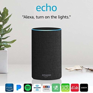 Echo (2nd Generation) - Smart speaker with Alexa - Charcoal Fabric - 9