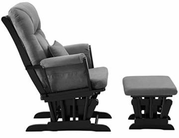 Angel Line Monterey Ii Glider & Ottoman, Black with Dark Gray Cushion - 4