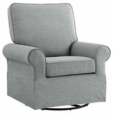 Angel Line Natalie Upholstered Swivel Glider, Grey - 1