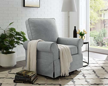 Angel Line Natalie Upholstered Swivel Glider, Grey - 2
