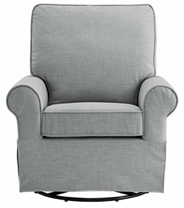 Angel Line Natalie Upholstered Swivel Glider, Grey - 3