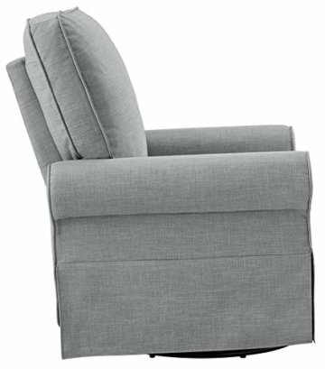 Angel Line Natalie Upholstered Swivel Glider, Grey - 4