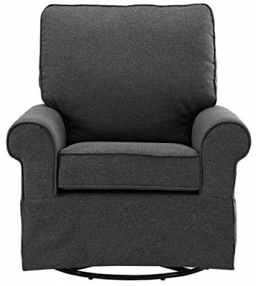 Angel Line Natalie Upholstered Swivel Glider, Dark Grey - 3