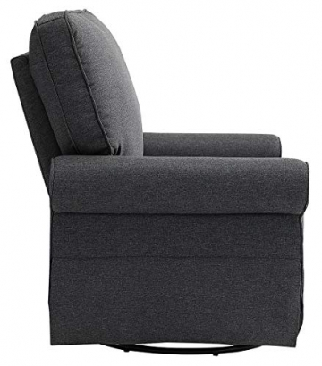 Angel Line Natalie Upholstered Swivel Glider, Dark Grey - 4